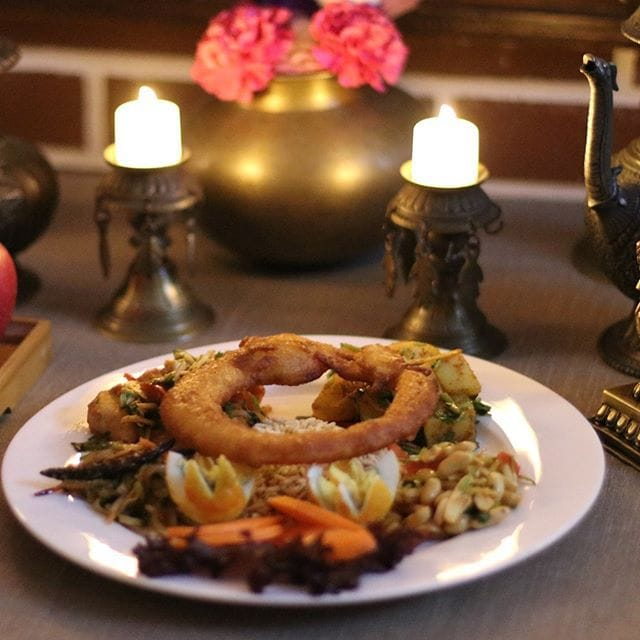 Happy #tihar #festival #kathmandu #restaurant #chengdu #nepal #china #selroti #food