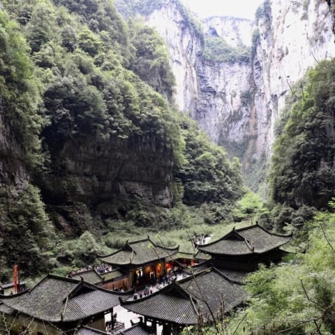 travel-park-wulong-waterfall-temple-3-480x480 #travel #park #wulong #waterfall #temple #china #chongqing