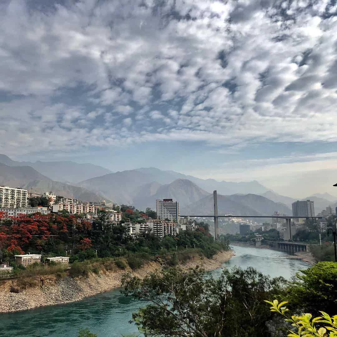 morning-panzhihua-bridge-china-sky #morning #panzhihua #bridge #China #sky #cloud #river
