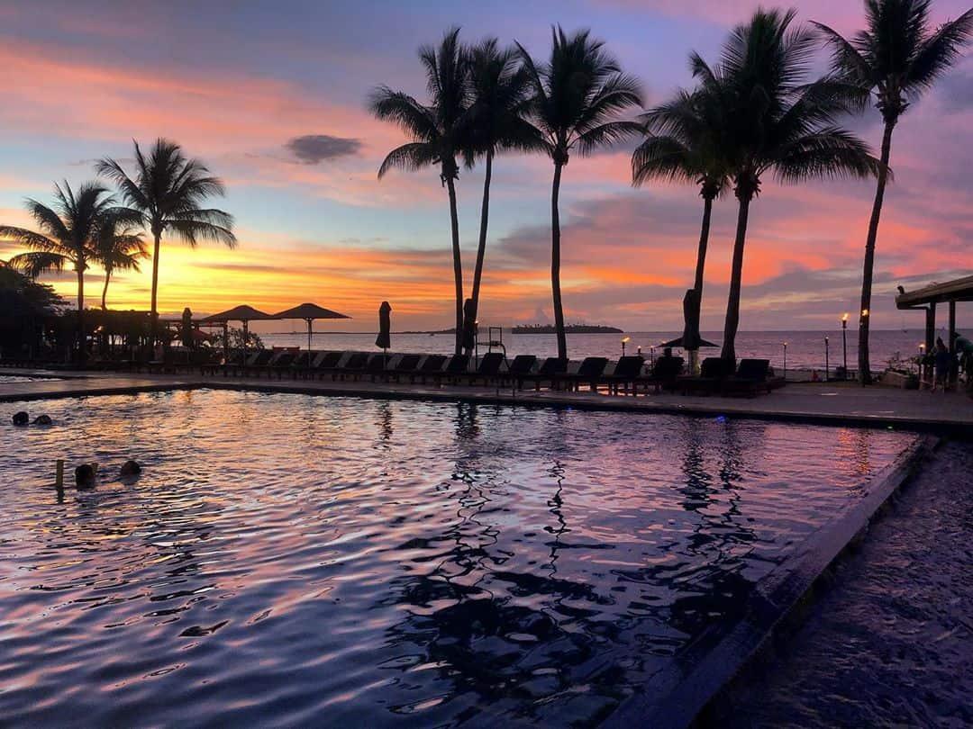 sunset-hiltonfiji-beach-pool #sunset #hiltonfiji #beach #pool