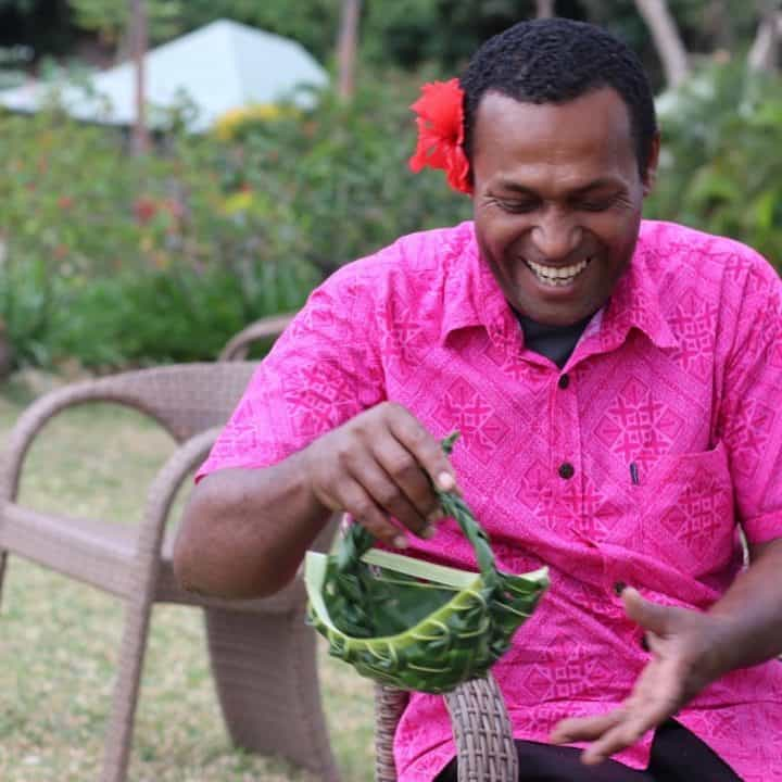 Weaving Demo | Tropica Island Resort | Fiji | Adrien Becuwe
